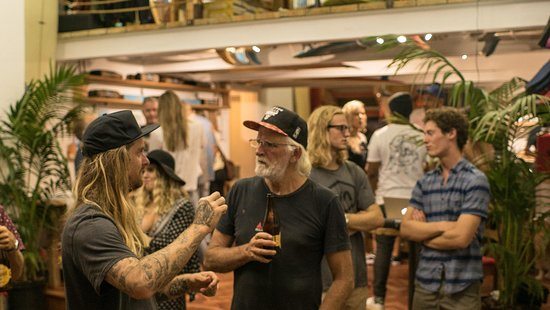 Saint Francis Bay, Sudáfrica: Our beers being enjoyed at a RVCA South Africa event in Cape Town