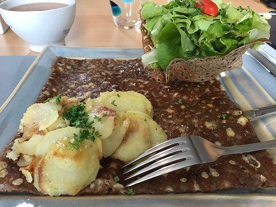 Herbignac, Frankrijk: Galette Raclette