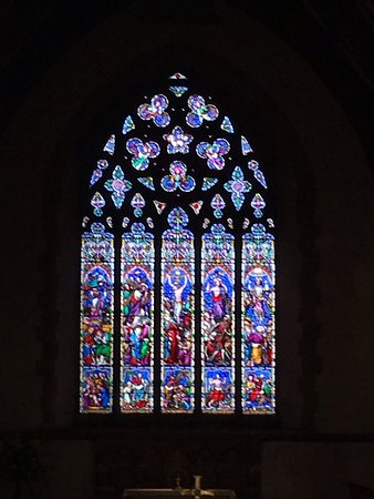 Beautiful window in St Marys church Chilham
