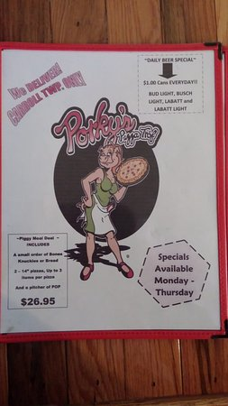 Oak Harbor, OH: Front of the Menu which displays our every day special.