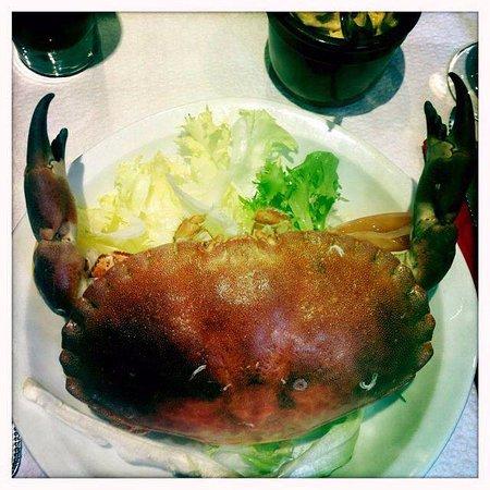 Le Charlemagne : Crabe au mayonaise met verse frietjes! Heerlijk!