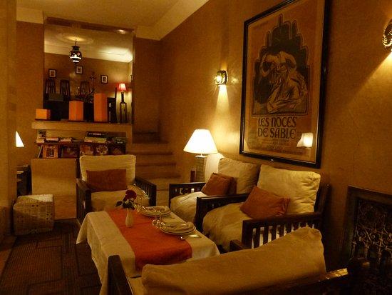 Riad l'Orangeraie: Dinner table
