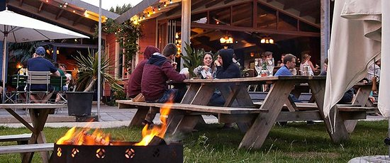 Camping Zeeburg: Late evenings on the terrace