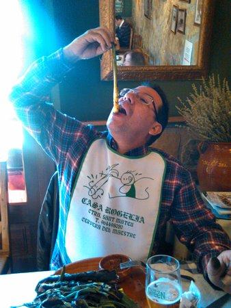 Cervera del Maestre, Spain: menú calçotada