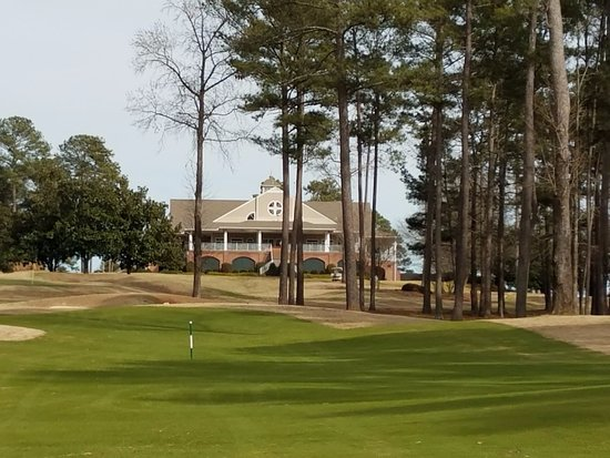 Grand National Golf Course: up number 9, back of the clubhouse
