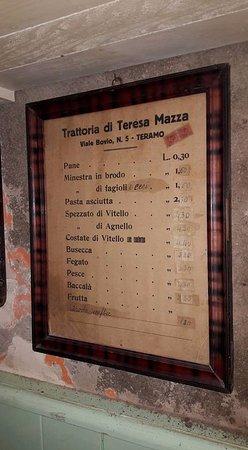 La Cantina di Porta Romana: vecchio prezziario