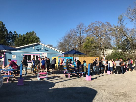 Grovetown, GA: People in line at Pelicans!