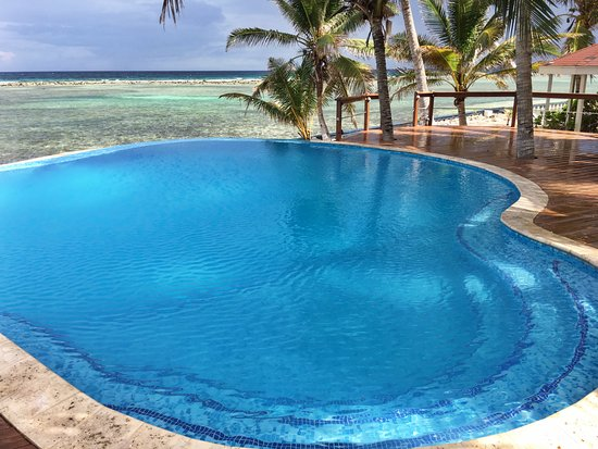 Turneffe Island, Belice: Oceanfront Infinity Pool
