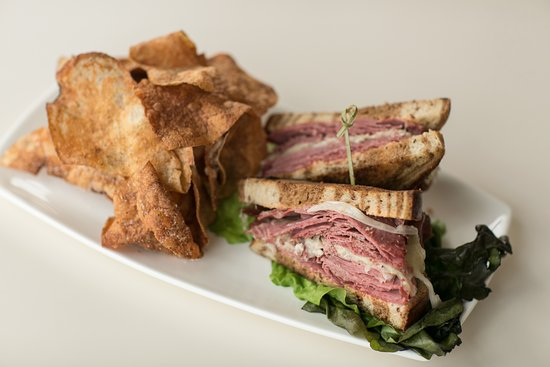 Pikesville, MD: Gourmet Rueben Sandwich on Marble Rye and Housemade Chips on Lunch Menu