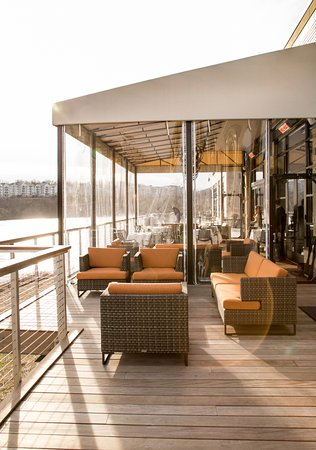 Outdoor Deck Under Covered Awning Offers Year Round Pleasure At Citron