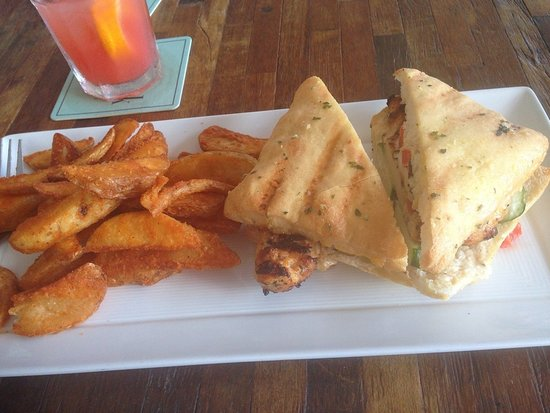 Saba Rock: Tuscan Chicken Panini