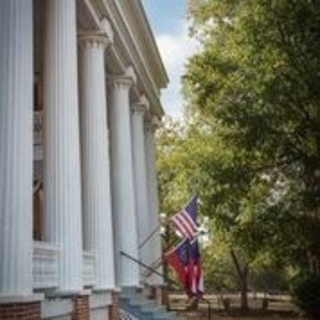 Washington, GA: Beautiful Columns on the front of the Brick House ca. 1869