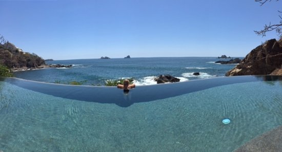 Capella Ixtapa: View from one of two infinity pools over looking the Pacific
