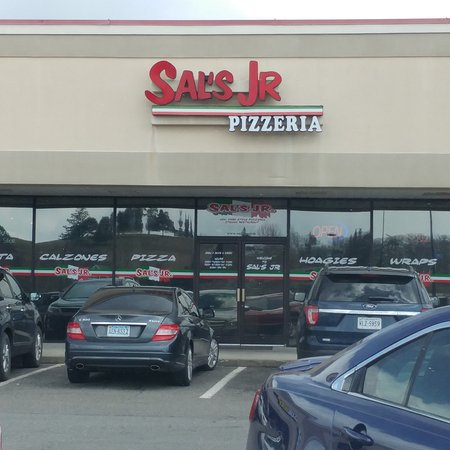 Sal's Jr. New York Style Pizzeria and Italian Restaurant: Outside view of restaurant in strip mall.