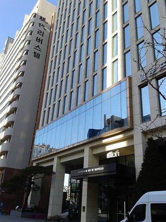 L 39 entr e de l 39 h tel picture of aloft seoul gangnam for Entree hotel