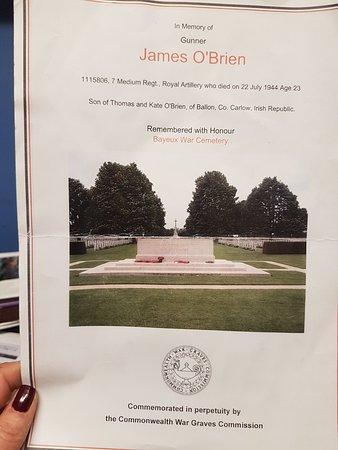 Cimetière Militaire Britannique : bayeux war grave