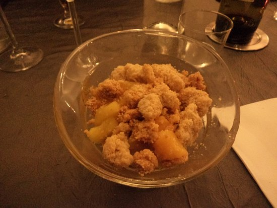 Revel, Francia: crumble fruit desaison