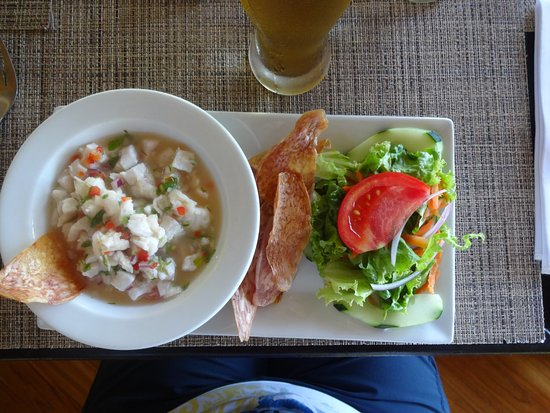 Copa de Arbol Beach and Rainforest Resort: Red snapper caught that day made into chivechi
