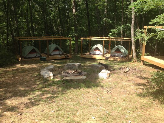 Falling Waters Adventure Resort Group C& Tent Platforms (bring your own tent) & Group Camp Tent Platforms (bring your own tent) - Picture of ...