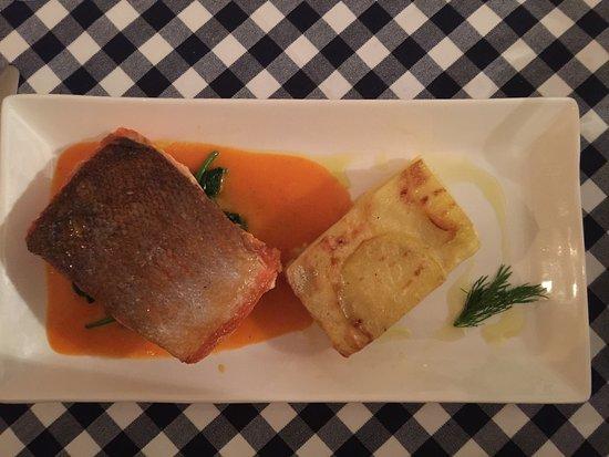 Piccolo: Sea trout fillet with potato Mille foglie