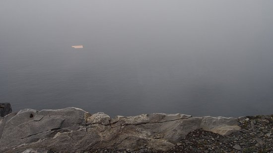Havoysund, Норвегия: View from the Arctic View on the day we were there. Not much to see through the fog sadly.