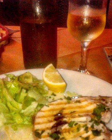Taverna del Mangione : Pesce spada al vino bianco - Segundo plato