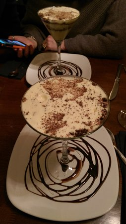 Dungannon, UK: Tiramisu - the dessert that looked like a cocktail!