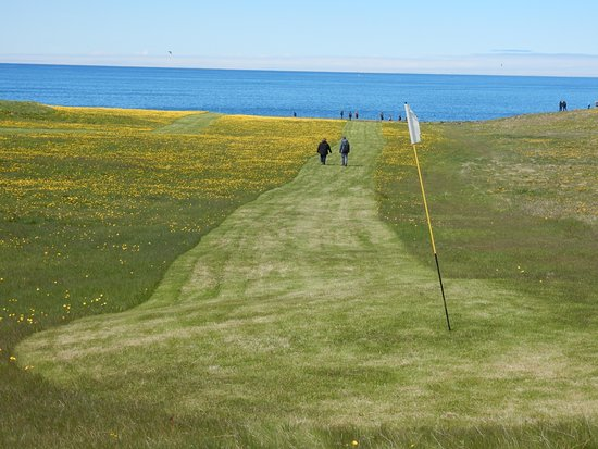 Grimsey Island, Iceland: Golf course north of the Arctic Circle