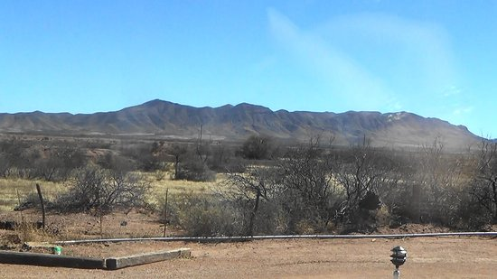 Van Horn, TX: the view from our RV window, fabulous
