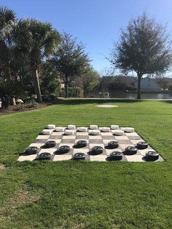 Horseshoe Bay, TX: Giant checkers board