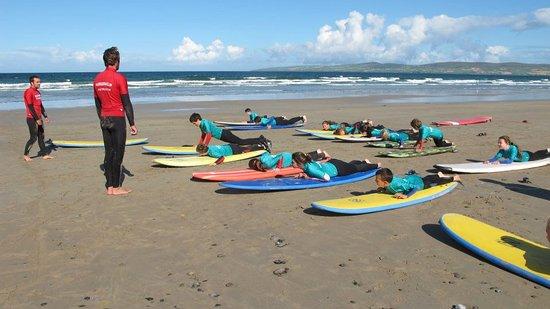 Inch, Ireland: sunny day at banna beach