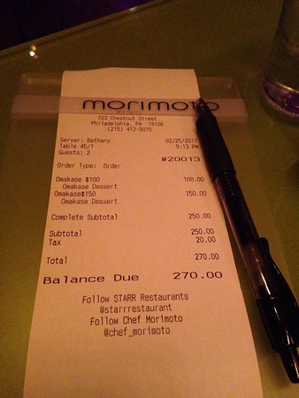 Photo of Restaurant Morimoto at 723 Chestnut Street, Philadelphia, PA 19102, United States