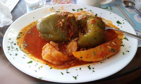 Norwood, MA: Stuffed green peppers!
