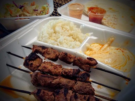 Danville, Kalifornien: Beef and lamb combo kebab meal