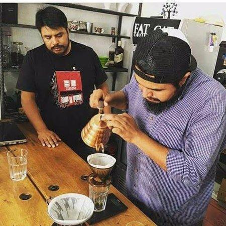 Fat Cat Coffee House: Gerson (Fat Cat) & Tito