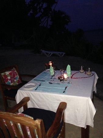 Qamea Island, Fidżi: Valentine's dinner table