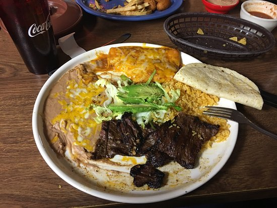 Pinedale, WY: Tamale and Taco Meal, and Carne Assad with enchiladas meal. My wife and I are so happy we stoppe