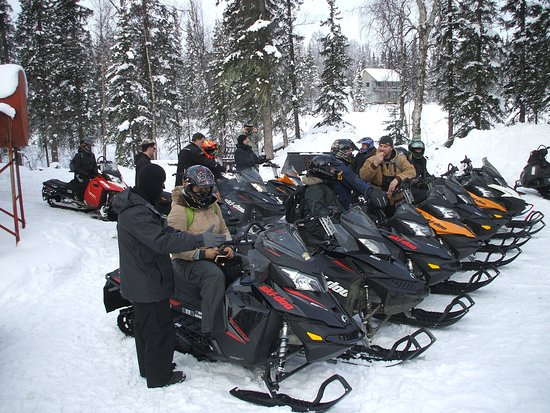 Trapper Creek, AK: Snow machine instruction