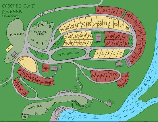Christina Lake, Kanada: Campground map