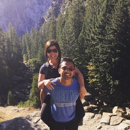 Mist Trail: hiking buddy