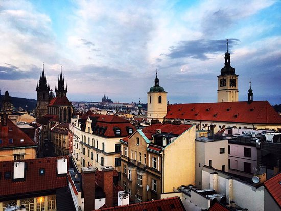 Junior suite with castle view picture of grand hotel for Grand hotel bohemia prague reviews
