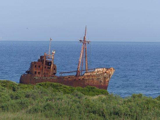 Gytheio, Griekenland: πριν να φτάσουμε την παραλία
