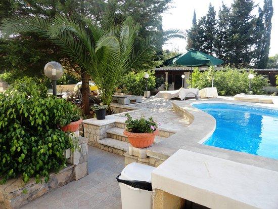 Giardino e piccola piscina AFFITTACAMERE  GALLIPOLI BB ALLOGGIO IN VILLA CRISTINA