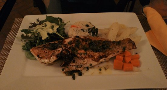 Choiseul, St. Lucia: Red snapper supper