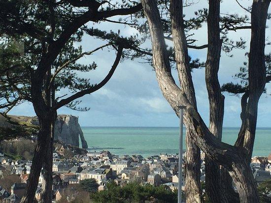 Domaine Saint Clair : belle vue d'Etretat
