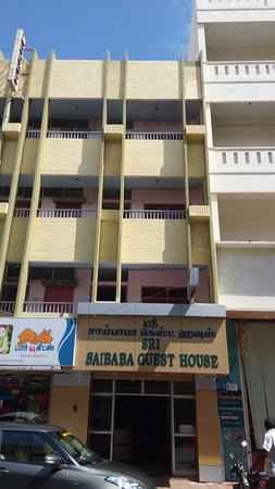 Sri Saibaba Guest House: Front view.