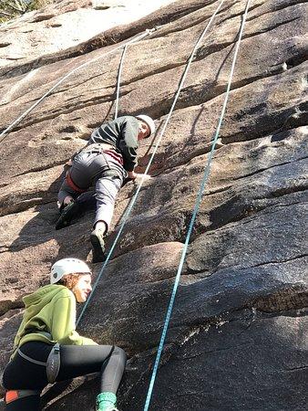 Fox Mountain Guides and Climbing School: team work