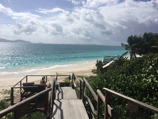 The Valley, Anguilla: The terrace/sundeck at the Beach House, Dune Preserve.