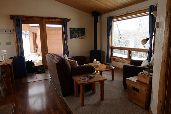 Blue Sky Cabins: Living room in forget me not