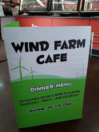 Woodville, Neuseeland: frontespizio menù